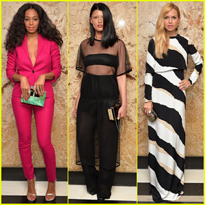 Solange Knowles is a Pop of Pink at Gucci Beauty Launch!