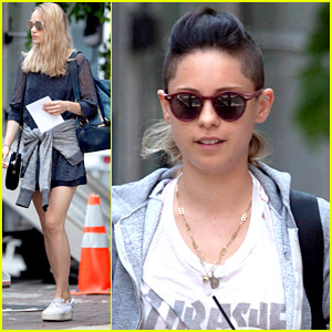 Rosa Salazar Sports Shaved Head on 'Insurgent' Set with Suki Waterhouse