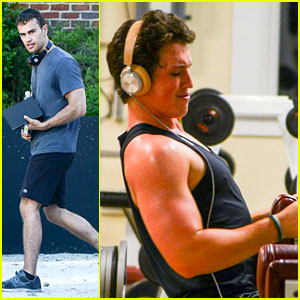 Theo James & Miles Teller Get Their Workout On During 'Insurgent' Filming Break