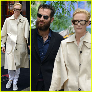 Tilda Swinton & Sandro Kopp Hold Hands in NYC!