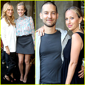 Tobey Maguire Supports Wife Jennifer Meyer at Zoe Report Dinner