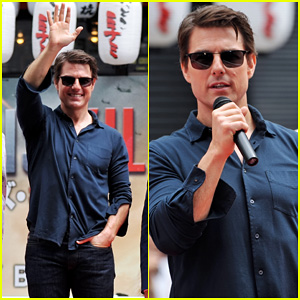 Tom Cruise is the Happiest Man for 'Edge of Tomorrow' Japan Photo Call!