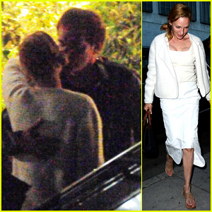 Uma Thurman & Quentin Tarantino Kiss After Three Hour Dinner