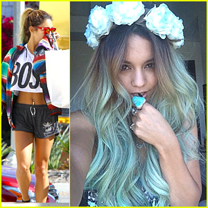 Vanessa Hudgens: From Blonde To Blue Hair