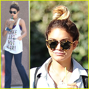 Vanessa Hudgens Fills Her Caffeine Needs with a Coffee!