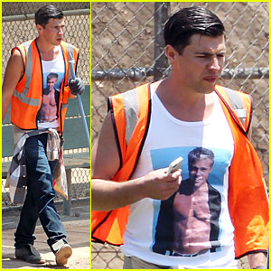 Vitalii Sediuk Wears Brad Pitt T-Shirt to Do Community Service