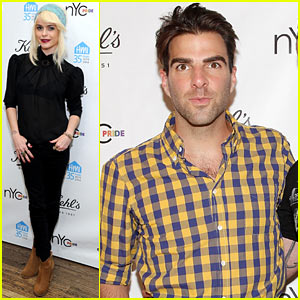 Zachary Quinto Kicks Off New York City Pride Weekend 2014 with Kiehl's!