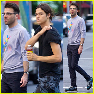 Zachary Quinto & Boyfriend Miles McMillan Are Still Going Strong in NYC!
