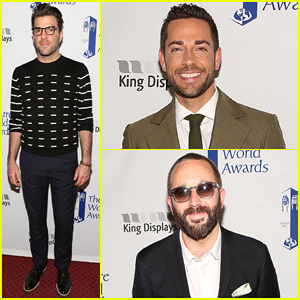Zachary Quinto Steps Out to Present at the Theatre World Awards 2014!