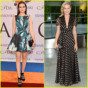 Zoey Deutch & Brie Larson Get Dressy For CFDA Awards 2014