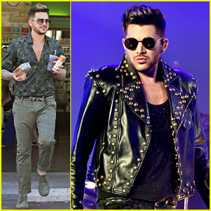 Adam Lambert Grabs a Healthy Lunch Before Queen Concert!