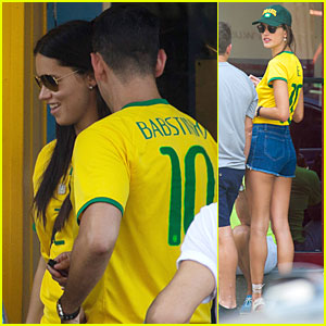Adriana Lima & Alessandra Ambrosio Support Brazil in FIFA World Cup Defeat