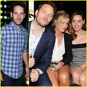 Amy Poehler & Aubrey Plaza Celebrate with Chris Pratt at 'Guardians of the Galaxy' Screening After Party!
