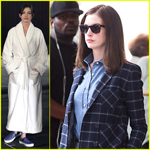 Anne Hathaway Walks the Streets of New York in a Bathrobe!