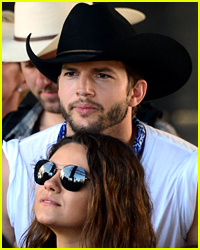 Ashton Kutcher Brings Mila Kunis' Dad to the World Cup!