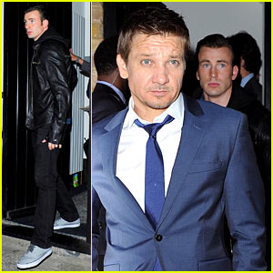 Avengers Unite! Chris Evans & Jeremy Renner Hit the Town in London Together!