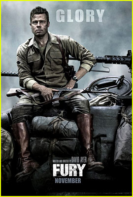 Brad Pitt Gets All the Glory in New 'Fury' Banner Posters!