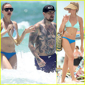 Bikini-Clad Cameron Diaz & Shirtless Benji Madden Let Sparks Fly at the Beach!