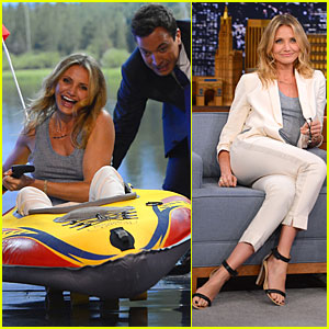 Cameron Diaz Competes in Epic Kayak Race on 'Tonight Show' - Watch Now!