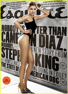 Cameron Diaz Displays Long Sexy Legs in Leotard for Esquire's August 2014 Issue