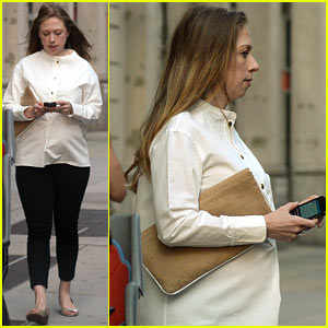 Chelsea Clinton Displays Her Large Baby Bump While Out with Hubby Marc Mezvinsky!