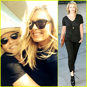 Chelsea Handler Watches Wimbledon with Maria Sharapova