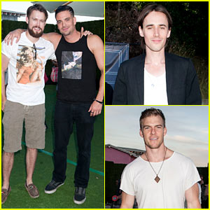 Chord Overstreet & Mark Salling Give Us 'Glee' at Just Jared's Summer Fiesta!