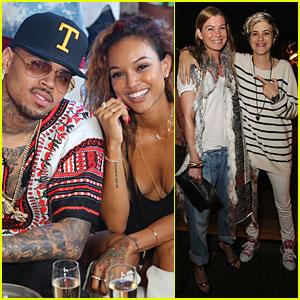 Chris Brown & Karrueche Tran Celebrate July 4th Together in Malibu!