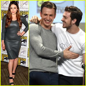 Chris Evans & Aaron Taylor-Johnson Get Touchy Feely at 'Avengers' Comic-Con Panel!
