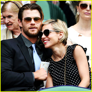 Chris Hemsworth & Elsa Pataky Are the Cutest Wimbledon Couple