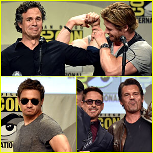 Chris Hemsworth & Mark Ruffalo Compare Biceps at Comic-Con!