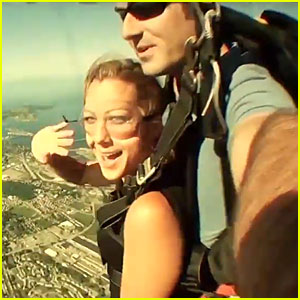 Colbie Caillat Goes Skydiving to 'Live It Up' - Watch Lyric Video Now!