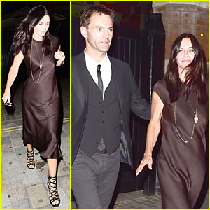 Courteney Cox & Fiance Johnny McDaid Dress Up For Hot Chiltern Firehouse Date
