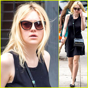 Dakota Fanning Enjoys the Sunny NYC Weather!