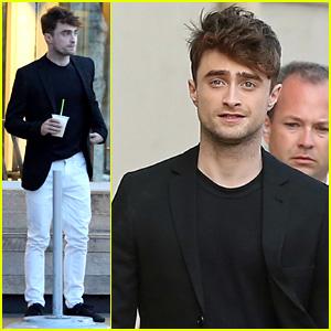 Watch Daniel Radcliffe Cut a Stranger's Hair on the Street! (Video)