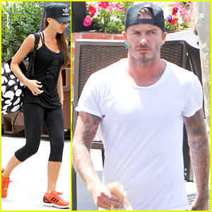 David & Victoria Beckham Are All About SoulCycle Class