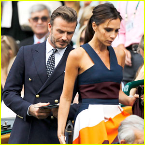 David & Victoria Beckham Dress Up for Wimbledon Men's Finals!