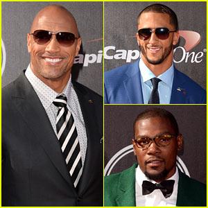 Dwayne 'The Rock' Johnson Joins Sports' Stylish Men at ESPYs 2014!