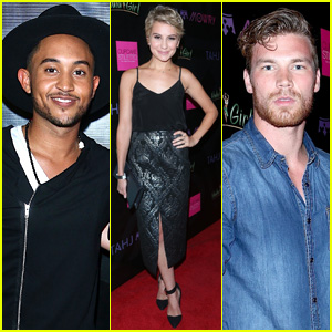 Baby Daddy's Derek Theler & Chelsea Kane Support Tahj Mowry at Hollywood Concert