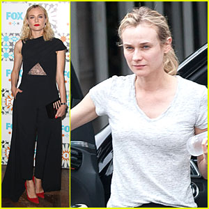 Diane Kruger Adds the Perfect Splash of Red at Fox Summer TCA All-Star Party