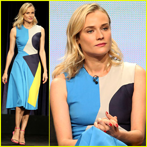 Diane Kruger Looks Fabulous Alongside 'The Bridge' Cast at FX TCA Panel 2014!
