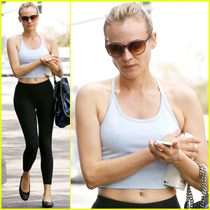 Diane Kruger Wears a Crop Top & Displays Her Unreal Figure!