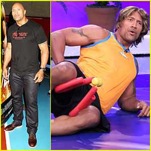 Dwayne Johnson Wears Wig For Funny Fitness Skit on 'Tonight Show' - Watch Now!