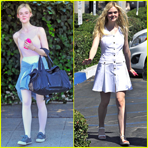 Elle Fanning Indulges in Mani-Pedi After Private Ballet Lesson
