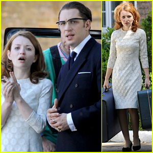 Emily Browning & Tom Hardy Continue 'Legend' in London