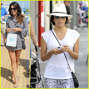 Eva Longoria Enjoys Spain Sightseeing Before Global Gift Gala