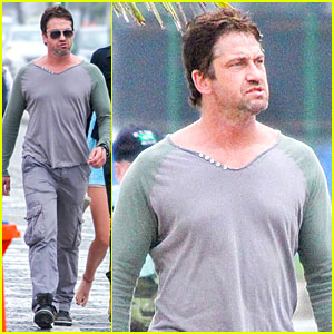Gerard Butler Continues to Enjoy Brazil Before FIFA World Cup Finals