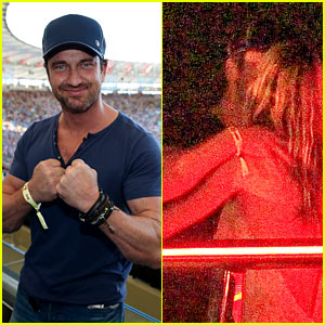 Gerard Butler Packs on PDA with Mystery Gal After World Cup