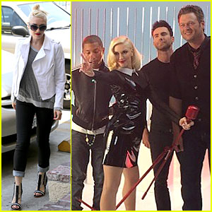 Gwen Stefani Looks Pretty Glamorous with 'The Voice' Boys!