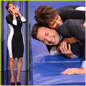 Halle Berry Shows Us How to Roll on 'Tonight Show'!